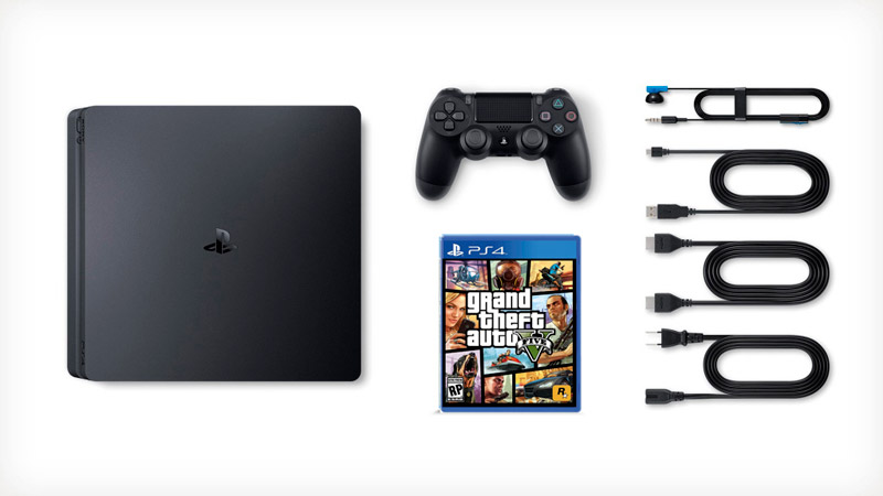 Sony PlayStation 4 SLIM 1Tb Black (CUH-2216B) + GTA 5