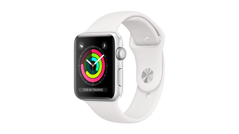 Смарт-часы Apple Watch S3 38mm Silver Al/White Sport Band (MTEY2RU/A)