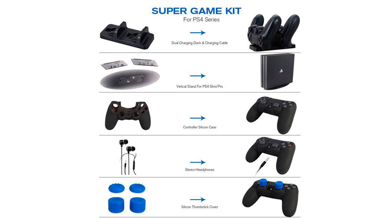 Набор 5 в 1 Super Game Kit DOBE (TP4-1751) (PS4 Slim/Pro)