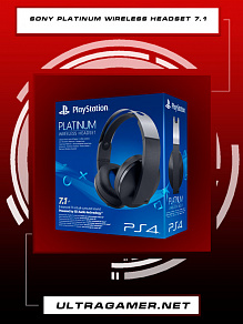 Наушники sony platinum wireless headset 7.1 PS4