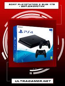 Sony PlayStation 4 SLIM 1Tb Black (CUH-2216B) + Dualshock 4 v2