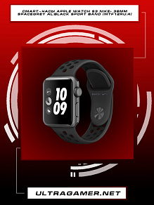 Смарт-часы Apple Watch S3 Nike+ 38mm Space Grey Al/Black Sport Band (MTF12RU/A)