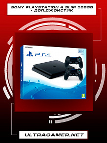 Sony PlayStation 4 SLIM 500GB Black (CUH-2216A) + Dualshock v2 black