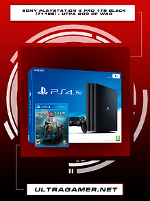 Sony PlayStation 4 PRO 1Tb Black (CUH-7116B) + игра God Of War