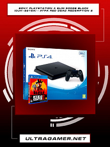 Sony PlayStation 4 SLIM 500gb Black (CUH-2216A) + игра Red Dead Redemption 2