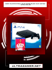 Sony PlayStation 4 SLIM 500GB Black (CUH-2216A) + игра Fifa 20