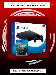 Sony PlayStation 4 Slim 1TB (CUH-2116B) + игра God Of War