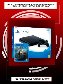Sony PlayStation 4 SLIM 500GB Black (CUH-2216A) + игра God Of War