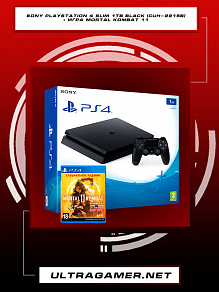 Sony PlayStation 4 SLIM 1Tb Black (CUH-2216B) + игра Mortal Kombat 11